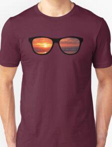 Hipster Beach Sunset Scene T-Shirt