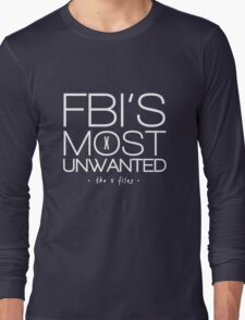 The FBI's Most Unwanted Long Sleeve T-Shirt