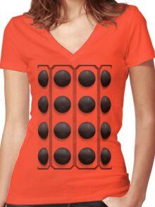 Kaled Mk 3 Travel Machine Women's Fitted V-Neck T-Shirt