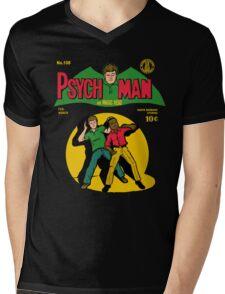 Psychman and Magic Head Mens V-Neck T-Shirt