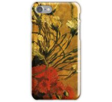 Van Gogh- Vase With Red and White Carnations iPhone Case/Skin