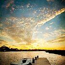 Boat & Pier Sunset by Jonicool