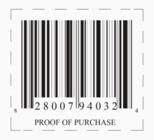 Proof of Purchase Barcode by HK887