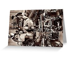 The Machinist. Greeting Card