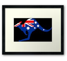 Australian Kangaroo Flag Framed Print