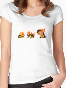 Cyndaquil evolution  Women's Fitted Scoop T-Shirt