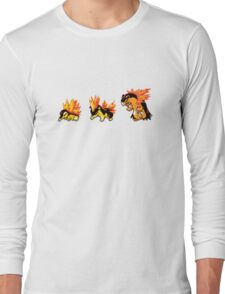 Cyndaquil evolution  Long Sleeve T-Shirt