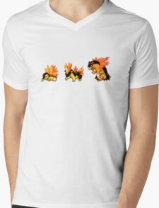 Cyndaquil evolution  Mens V-Neck T-Shirt