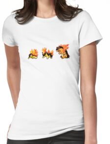 Cyndaquil evolution  Womens Fitted T-Shirt