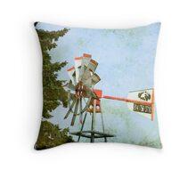 wind mill Throw Pillow