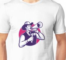 Auctioneer Cowboy With Gavel And Bullhorn Unisex T-Shirt