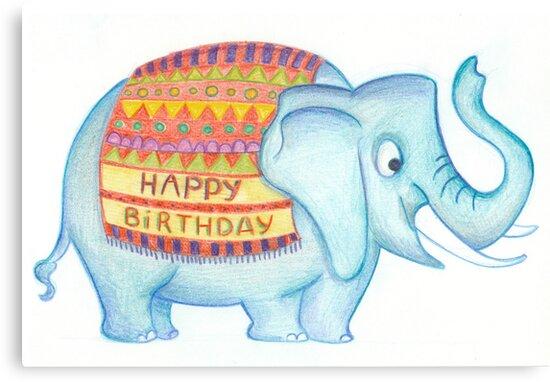 Birthday elephant by Sanne Thijs