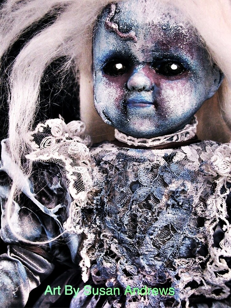 Zombie blue doll by Paranormalbabie