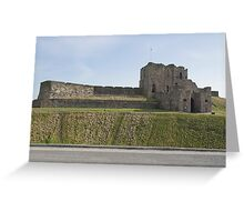 Priory Castle at Tynemouth on the North East coast of England. Overlooking King Edwards bay & the North Sea. Greeting Card