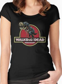 Walking With Dead Dinosaurs Women's Fitted Scoop T-Shirt