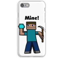 Minecraft Mining art iPhone Case/Skin