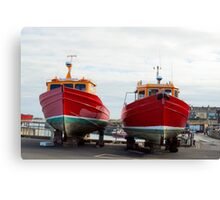 St Cuthbert 2 and 3 during the closed season Canvas Print