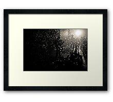 Nuclear rain - snowstorm Framed Print