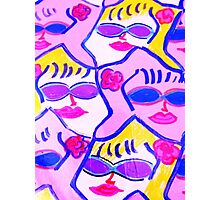 Pink and Blue Sunglasses Rock! Photographic Print