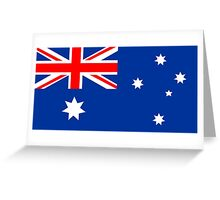 Australian Flag Greeting Card