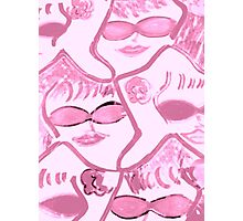 Pink Ladies in Sunglasses Rock!! Photographic Print