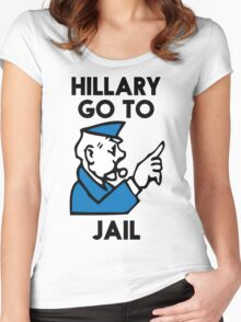 Hillary Clinton Go To Jail Women's Fitted Scoop T-Shirt
