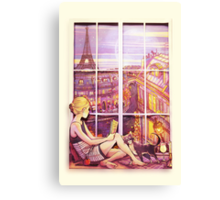 A Window to Paris Canvas Print