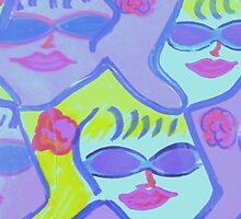 Cool Ladies in Purple Sunglasses! by artqueene