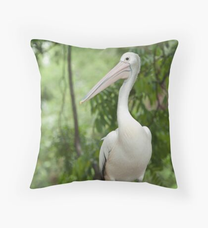 A wonderful bird is the Pelican.... Throw Pillow