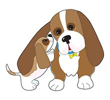 Basset Talk Dad by Maria Bell