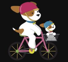 Cute Puppy on Bike Kids Clothes