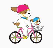 Cute Puppy on Bike Unisex T-Shirt