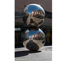 Rundle Mall - Silver Ball or Mall's Balls Photographic Print