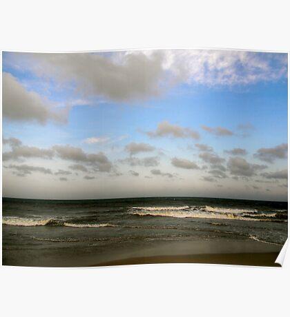 Light Sky, Dark Ocean Poster