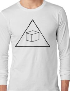 Delta Cubes Will Never Die! (Black) Long Sleeve T-Shirt