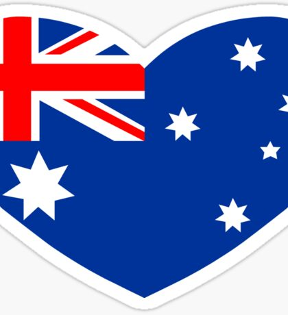 Heart Shaped Australian Flag Sticker