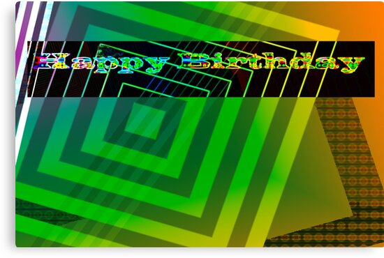 Geometric birthday card by ♥⊱ B. Randi Bailey