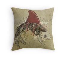 koi shark fin 03 Throw Pillow