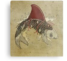 koi shark fin 03 Metal Print