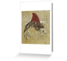 koi shark fin 03 Greeting Card