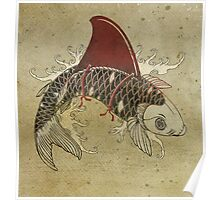 koi shark fin 03 Poster