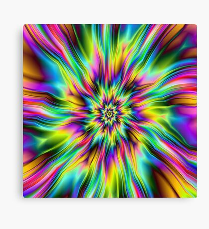 Psychedelic Supernova Canvas Print