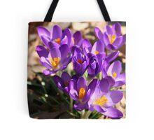 Signs of Spring - Crocus Tote Bag