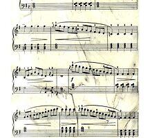 Sheet Music Black & White by Elizabeth Coats