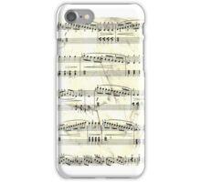 Sheet Music Black & White iPhone Case/Skin