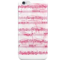Sheet Music Pink iPhone Case/Skin