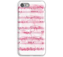 Sheet Music Pink iPhone Case/Skin
