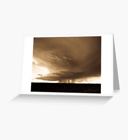 Storm over Turkey, Texas Greeting Card