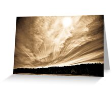 Road to Cloudcroft Greeting Card
