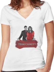 Team Caskett Women's Fitted V-Neck T-Shirt